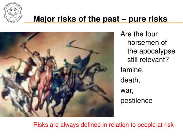 Major risks of the past pure risks