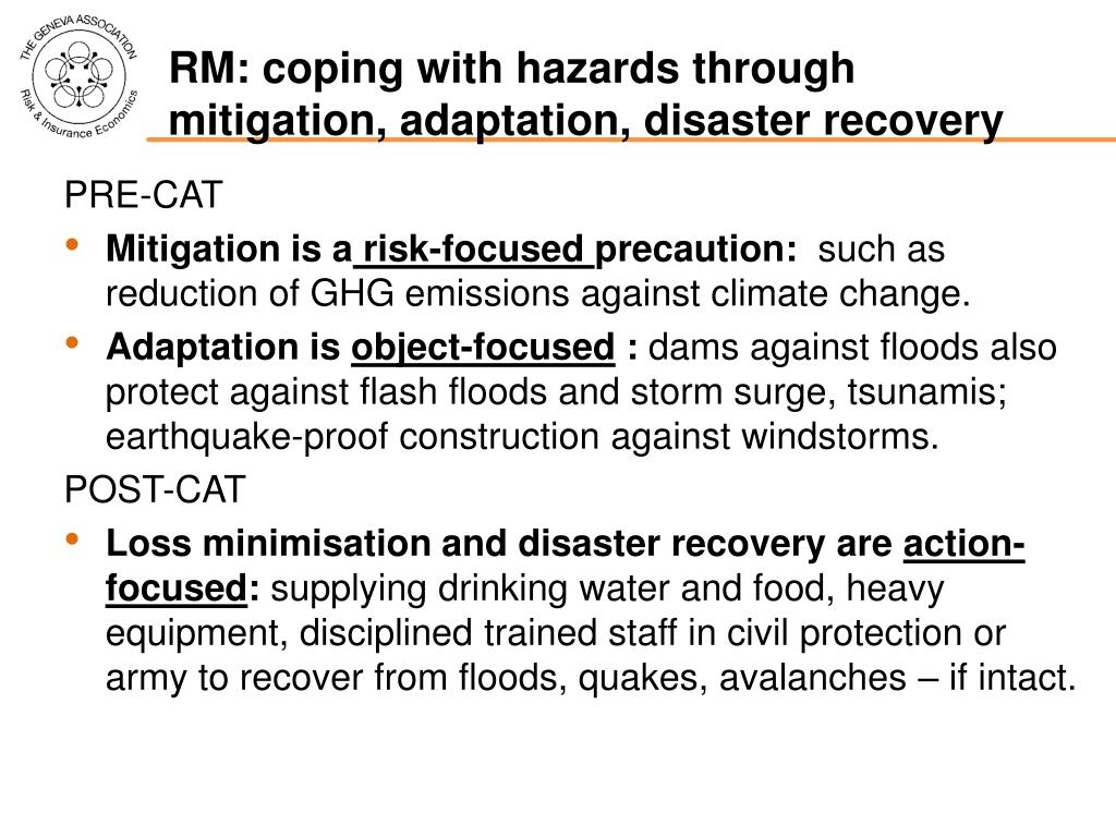 RM: coping with hazards through