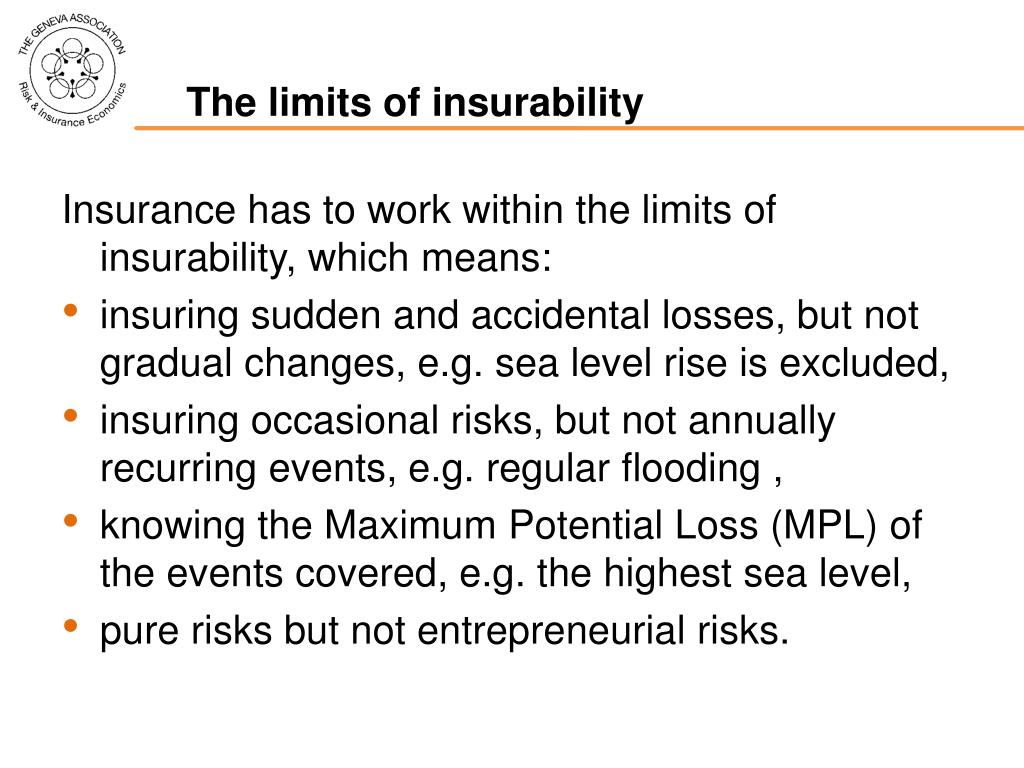 The limits of insurability