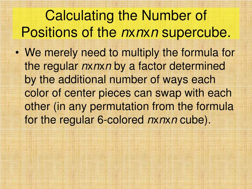 Calculating the Number of Positions of the