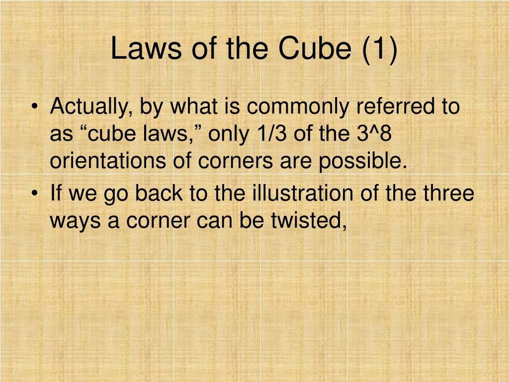 Laws of the Cube (1)