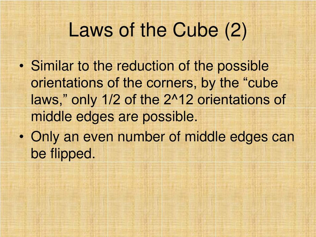 Laws of the Cube (2)