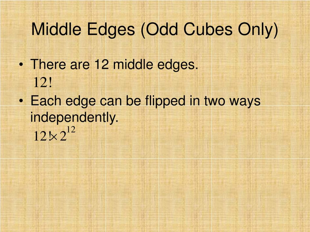 Middle Edges (Odd Cubes Only)
