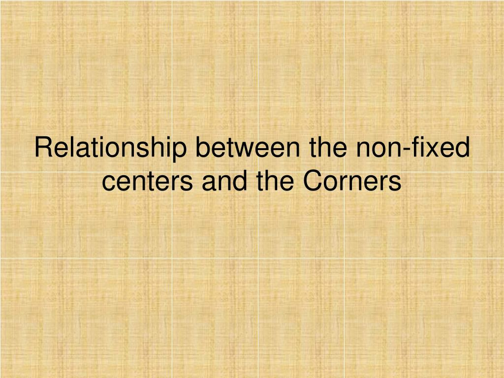 Relationship between the non-fixed centers and the Corners