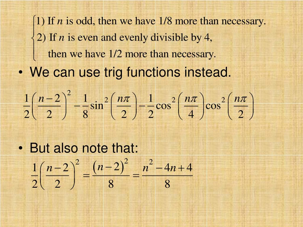 We can use trig functions instead.