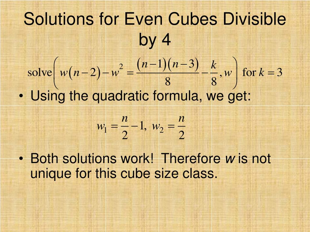 Solutions for Even Cubes Divisible by 4