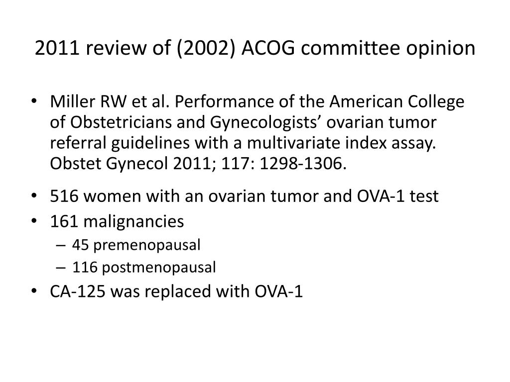 2011 review of (2002) ACOG committee opinion