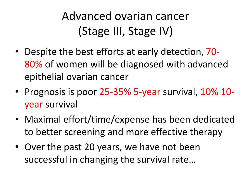 Advanced ovarian cancer