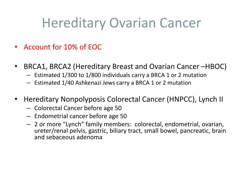 Hereditary Ovarian Cancer
