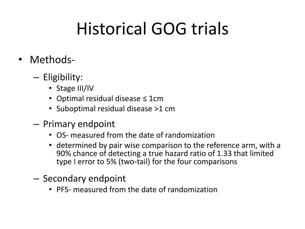 Historical GOG trials