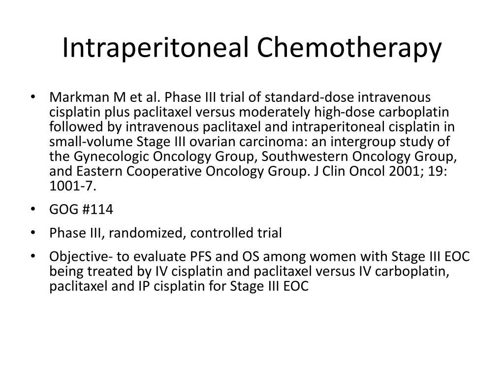 Intraperitoneal Chemotherapy