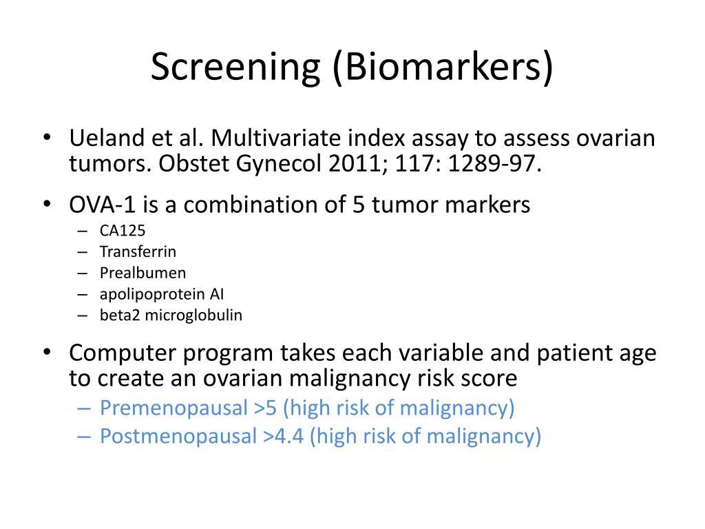 Screening (Biomarkers)