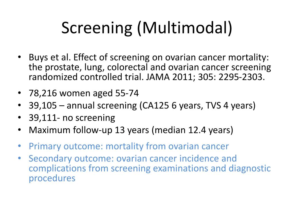 Screening (Multimodal)