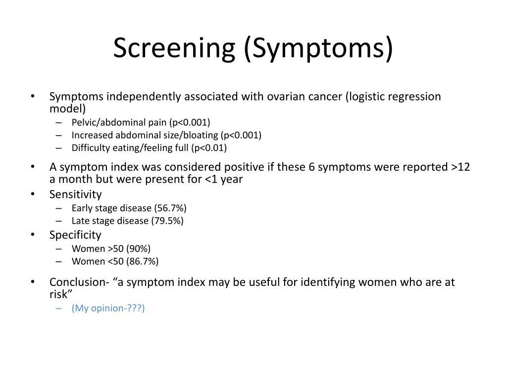 Screening (Symptoms)