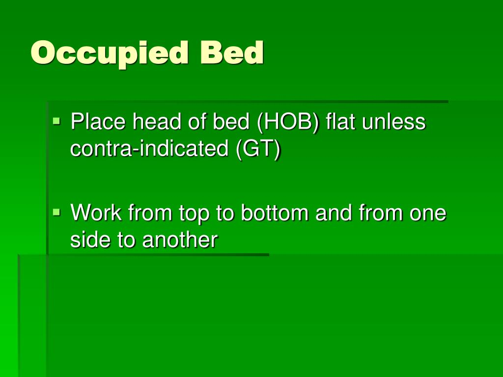 Occupied Bed