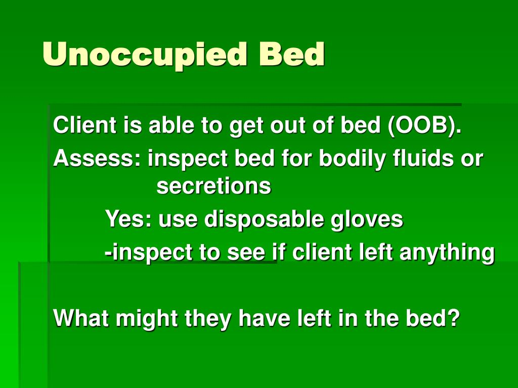 Unoccupied Bed