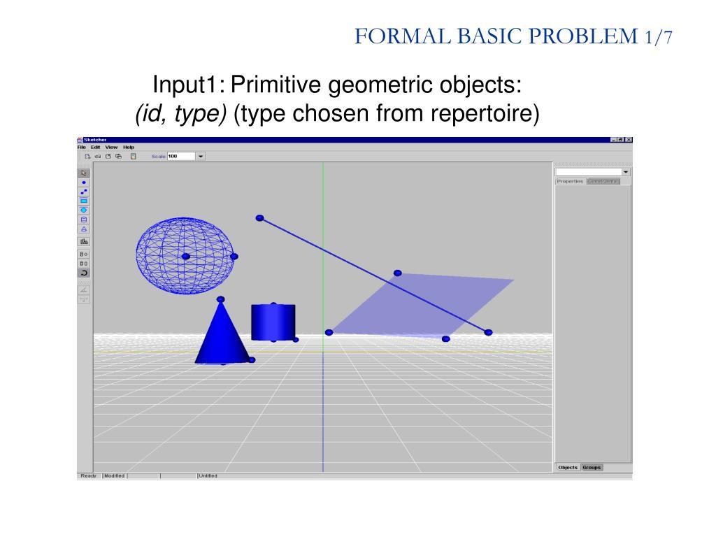 FORMAL BASIC PROBLEM