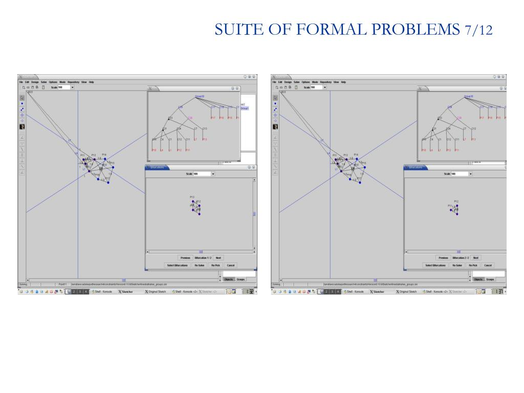 SUITE OF FORMAL PROBLEMS