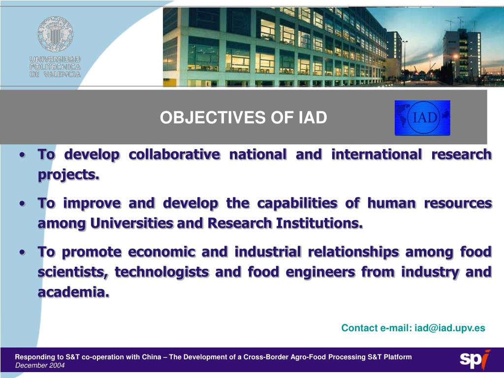 OBJECTIVES OF IAD