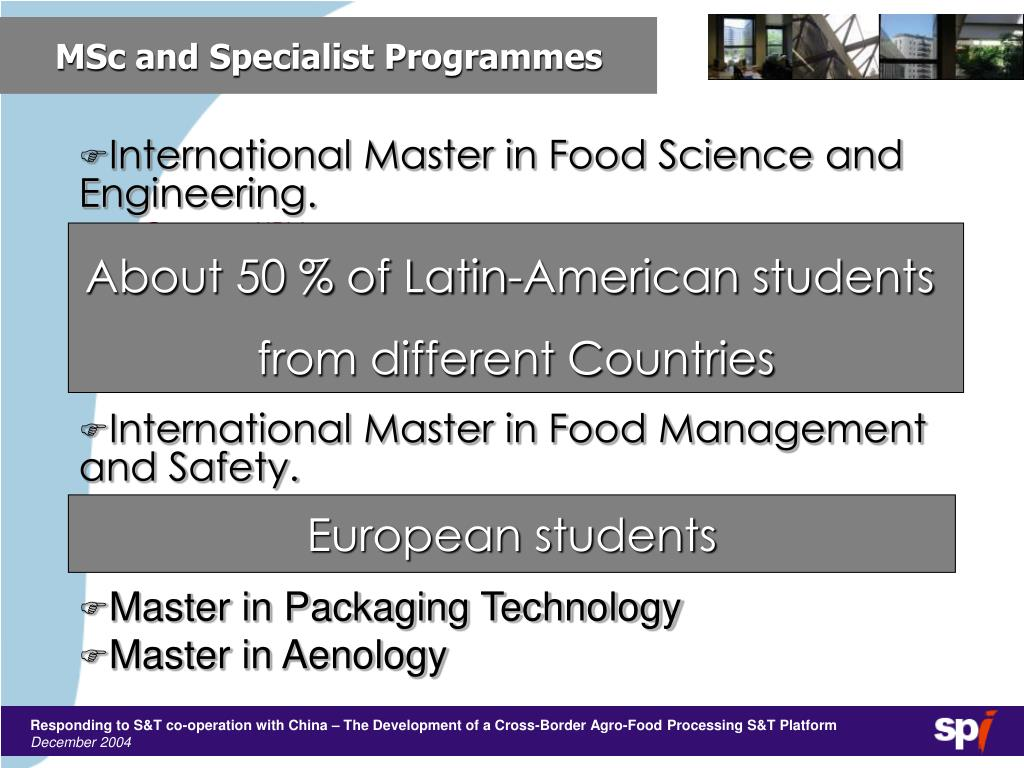MSc and Specialist Programmes