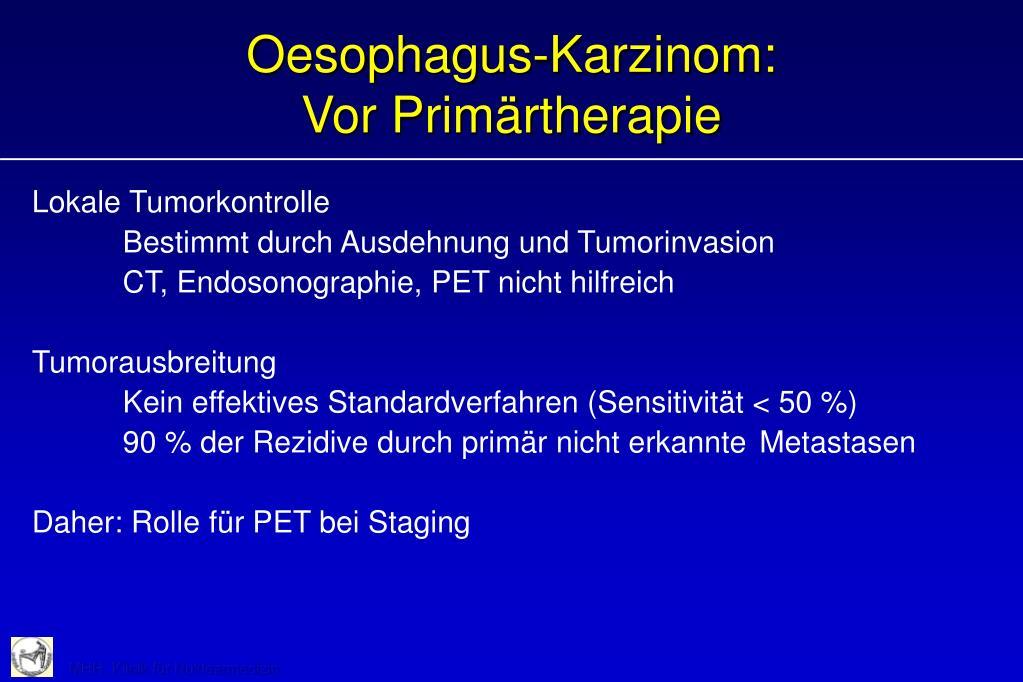 Oesophagus-Karzinom:
