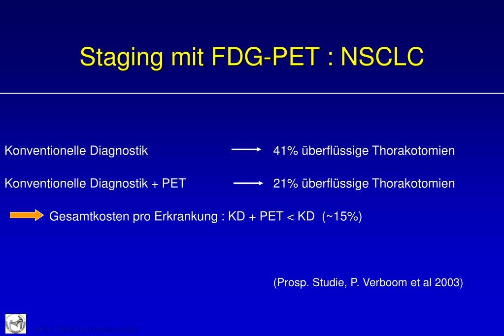 Staging mit FDG-PET : NSCLC