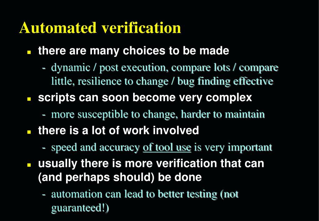 Automated verification