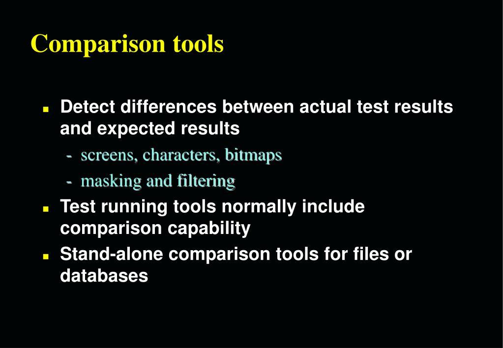 Comparison tools