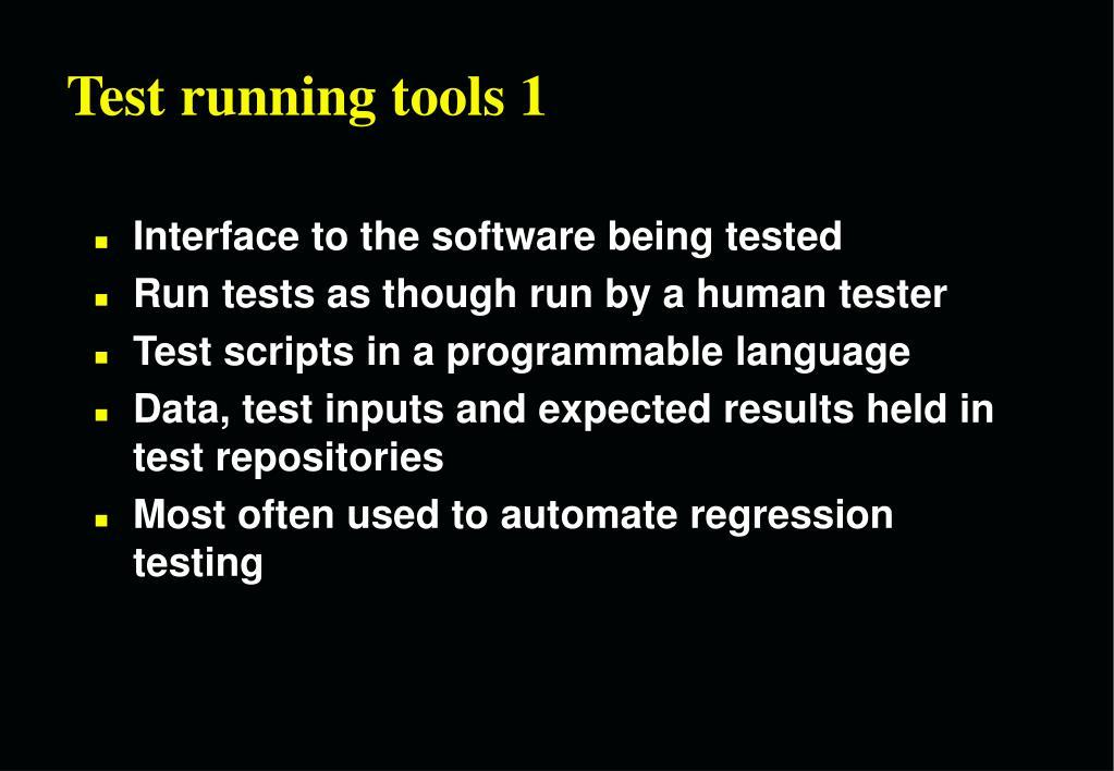 Test running tools 1