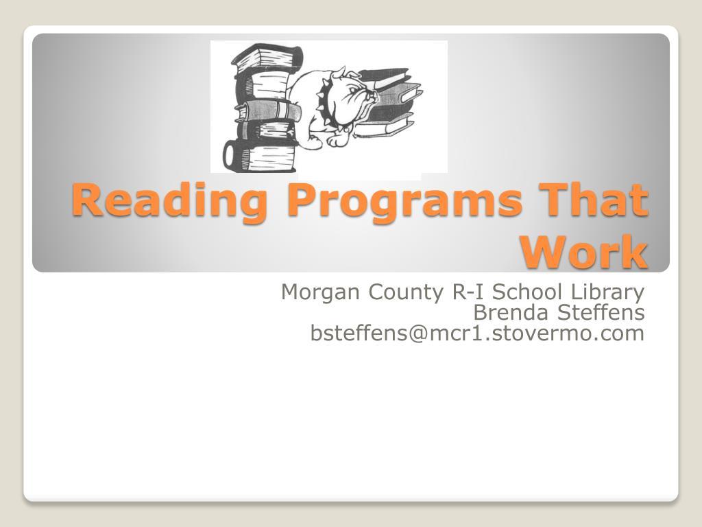 reading programs that work l.