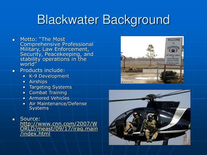 Blackwater Background