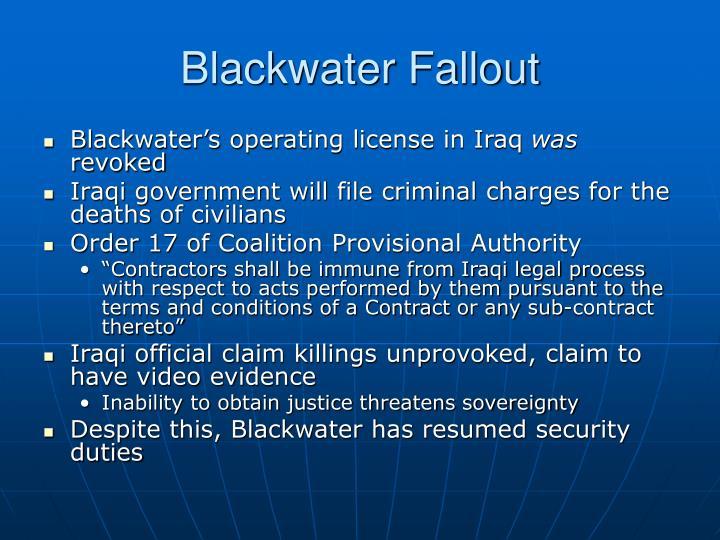 Blackwater Fallout
