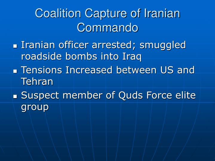 Coalition Capture of Iranian Commando