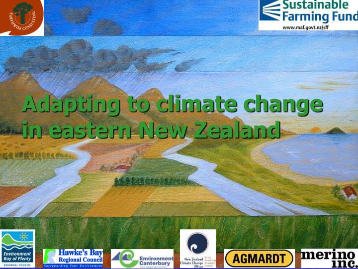 Adapting to climate change in eastern new zealand