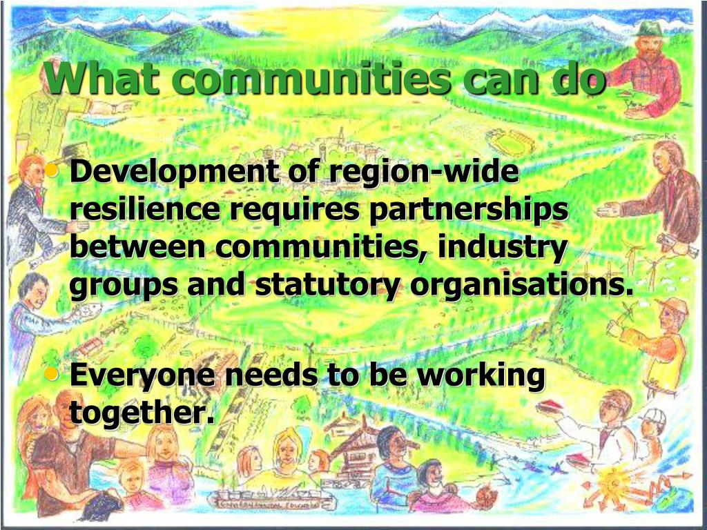 What communities can do