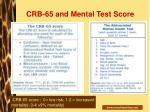 crb 65 and mental test score