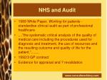 nhs and audit