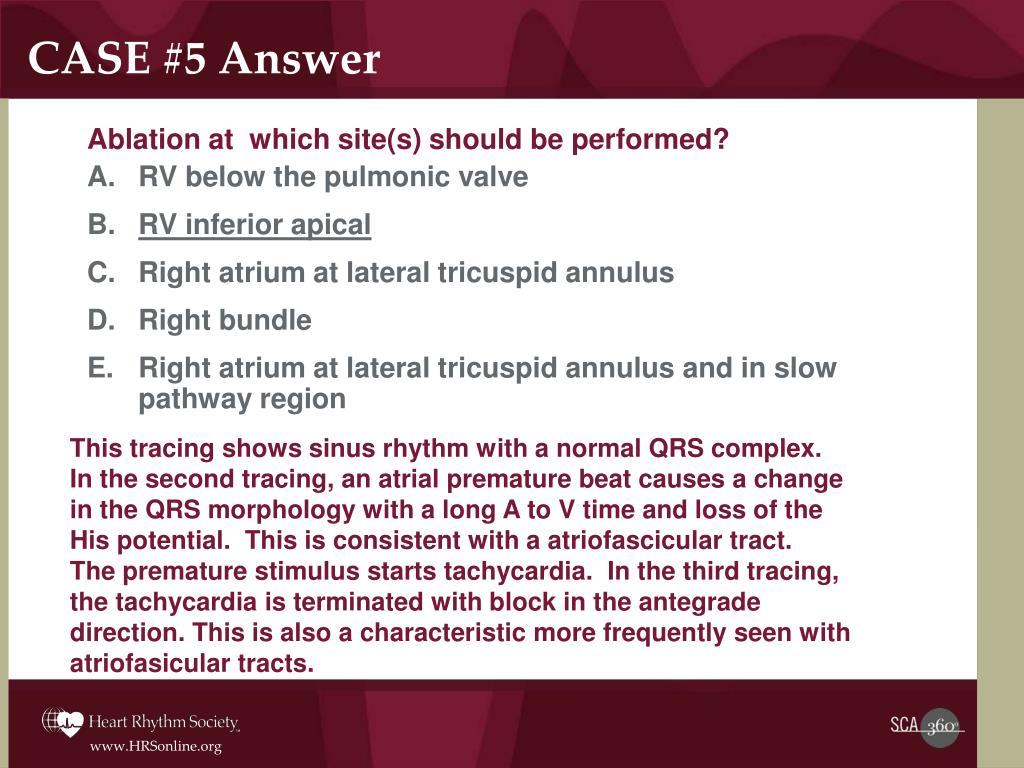 CASE #5 Answer