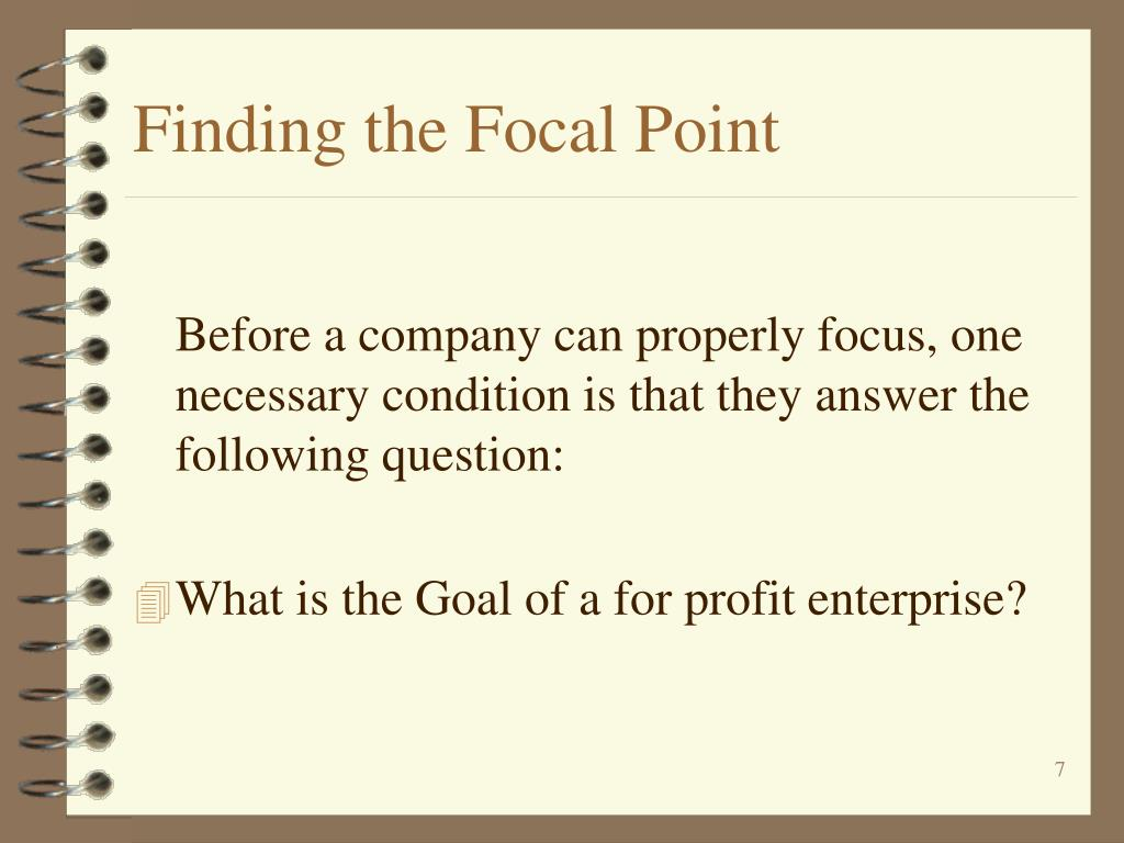 Finding the Focal Point