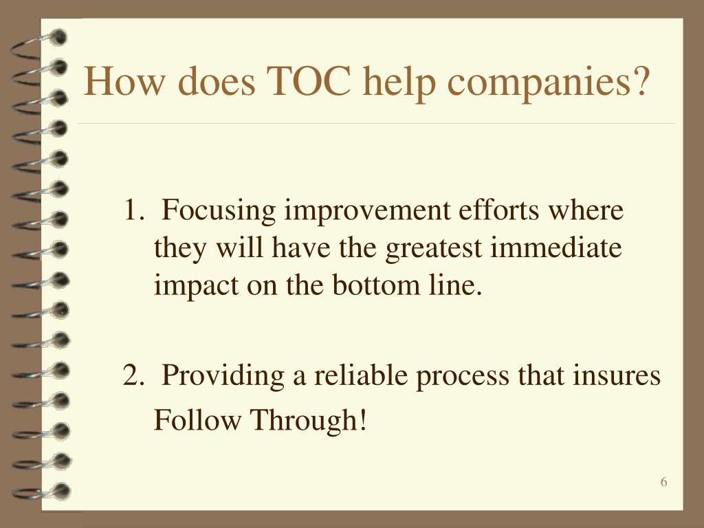 How does TOC help companies?