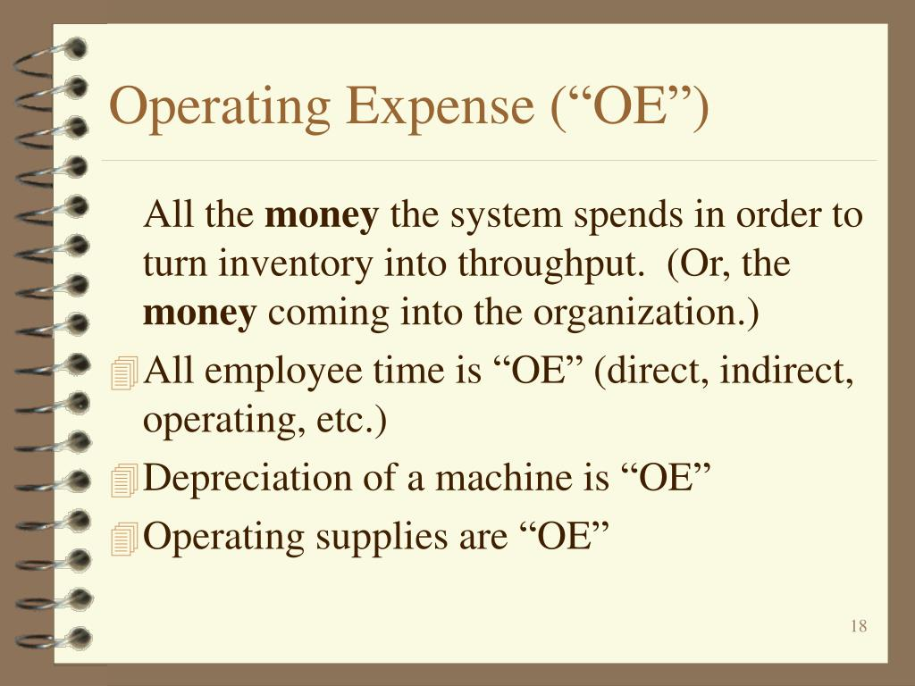 "Operating Expense (""OE"")"