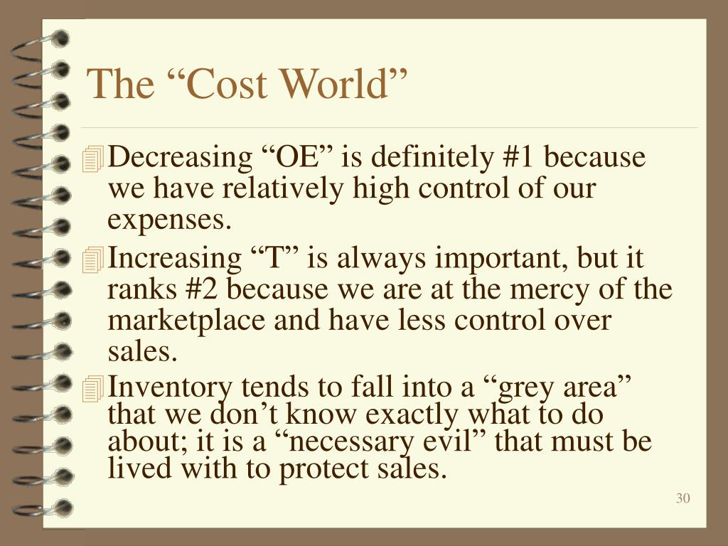 "The ""Cost World"""