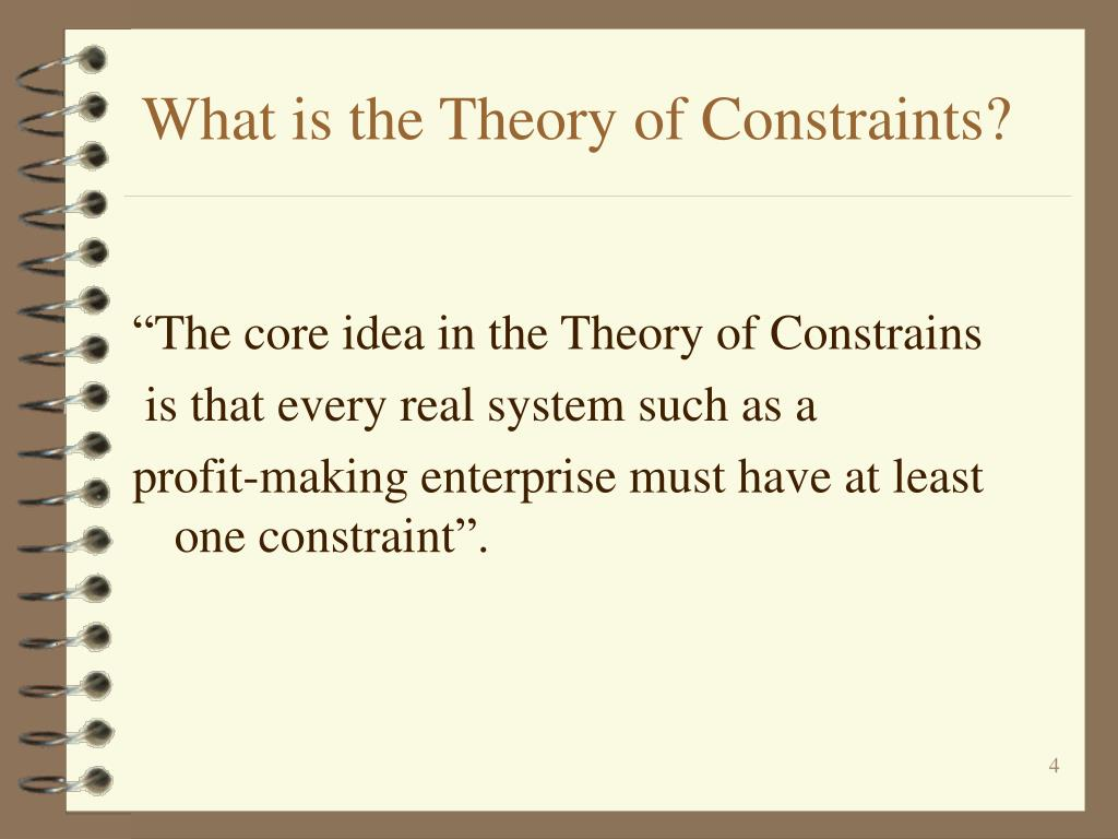 What is the Theory of Constraints?