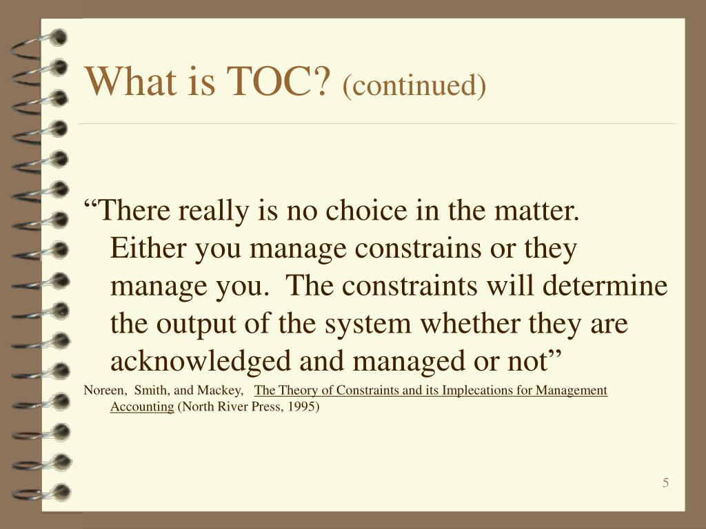 What is TOC?