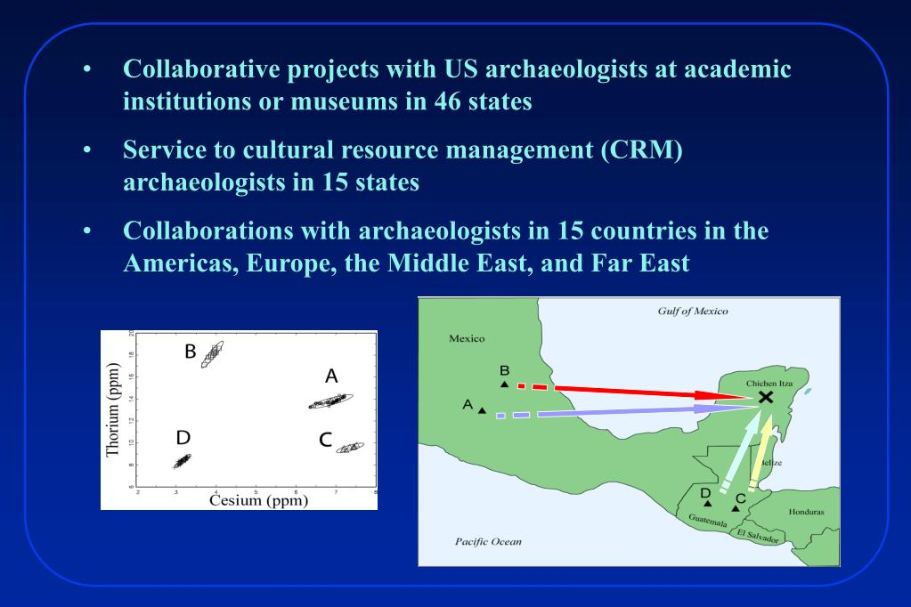 Collaborative projects with US archaeologists at academic institutions or museums in 46 states