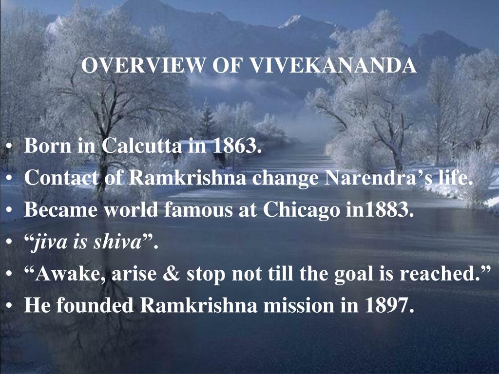 OVERVIEW OF VIVEKANANDA