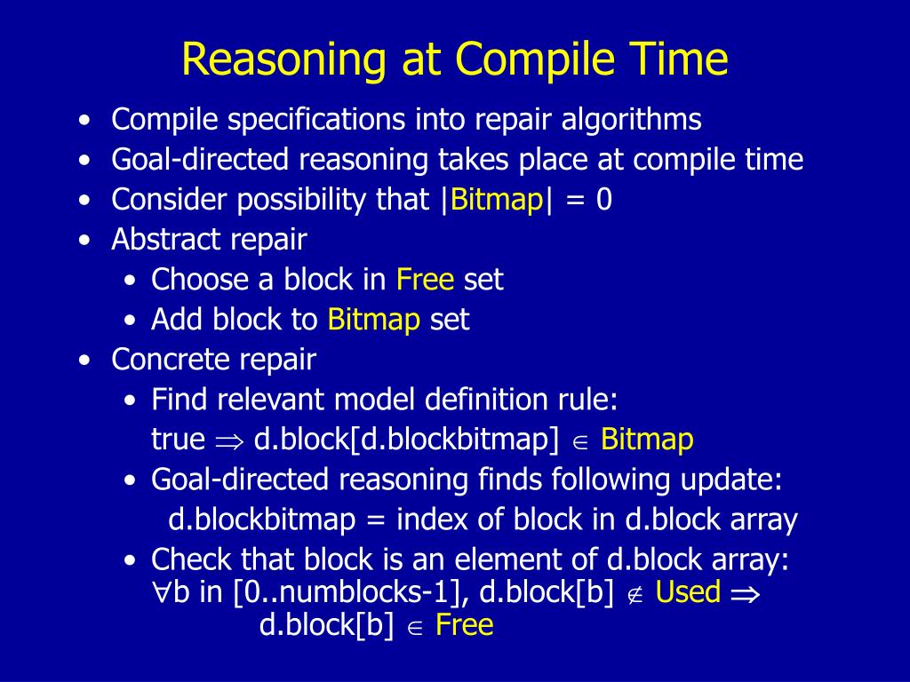 Reasoning at Compile Time