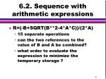 6 2 sequence with arithmetic expressions