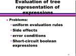 evaluation of tree representation of expressions