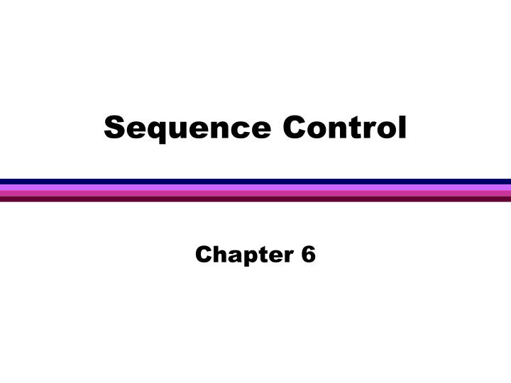sequence control n.